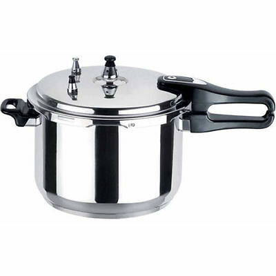 ALUMINIUM PRESSURE COOKER PAN WITH SAFETY VALVE KITCHEN COOKWARE 7L 7 Litre