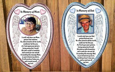 Personalised In loving memory Remembrance/Graveside card  Mum or Dad