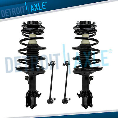 Both (2) New Complete Front Strut Assembly + 2 Front Sway Bar End Links