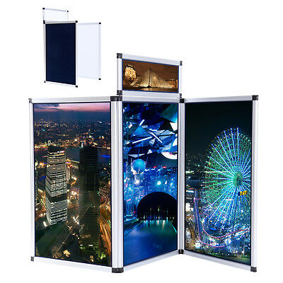 3 Panel Exhibition Folding Display Boards Top Stand Header Aluminum Alloy Frame