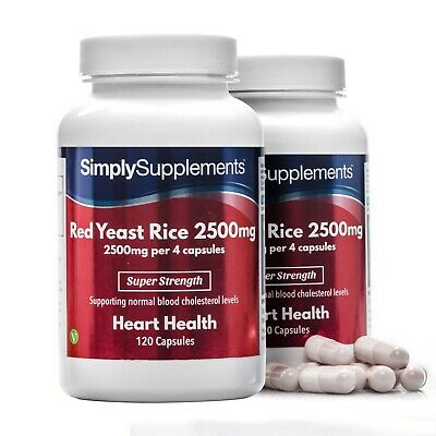 SimplySupplements Red Yeast Rice 2500mg 240 Capsules (S774)