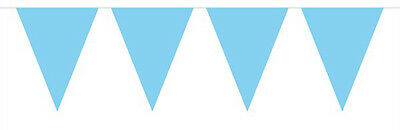 Baby Blue Mini Flag Party Bunting 15 Flags 3M Party Decoration