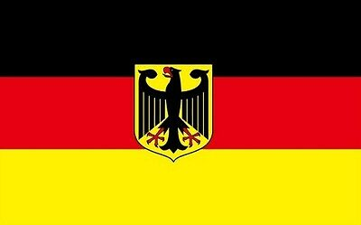 "18"" x 12"" (45 x 30 cm) Germany German State Eagle Sleeved Boat Hand Waving Flag"