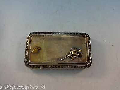 Mixed Metals by Whiting Business Card Case Japanesque Fish Figural