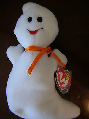 Spooky The Ghost TY Beanie Baby Babies Collectible October 31, 1995 Halloween