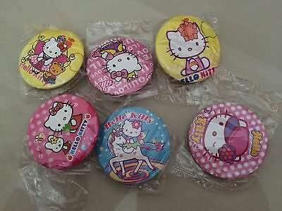 5pcs KITTY CAT 45mm Plastic Badge Brooch Pin Birthday Party Lolly Bag Gift