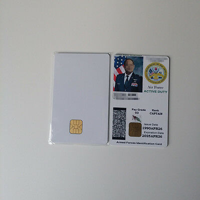 CSF Blank PVC 4428 Chip Plastic Photo ID Inkjet Card 30 Mil White Lots of 30