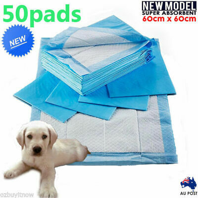NEW 50pcs Puppy Pet Dog Indoor Cat Toilet Training Pads Super Absorbent 60x60cm