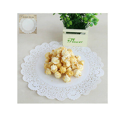 Paper Doilies x 20 .. White 24cmD .. Vintage Country Chabby Chic Decorations
