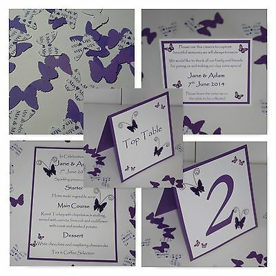 Handmade BUTTERFLY  :TABLE DECORATION STATIONERY;5 designs/60 colours/any qty