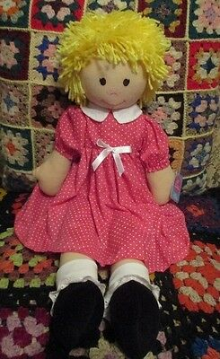 "* ""MARY LOU "" Very Pretty 55cm RAG DOLL *"
