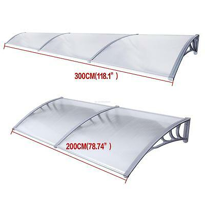 Door Window Canopy Awning Porch Sun Shade Shelter Outdoor Patio Rain Cover UK