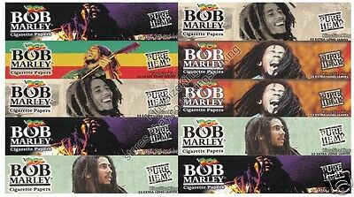 BOB MARLEY Kingsize Pure Hemp Rolling Papers King Size Paper Set 10 Packs