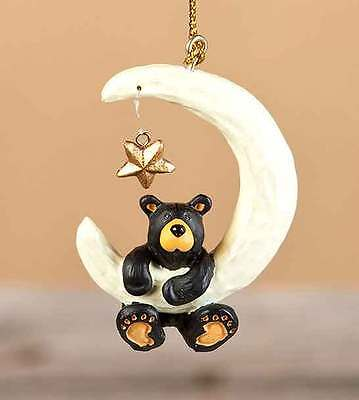BEARFOOTS Christmas Ornament Black Bear Dangle Star  B5070076 OVER THE MOON