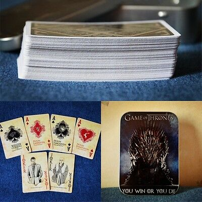 Limited Game of Thrones You Win or You Die Playing Cards Poker
