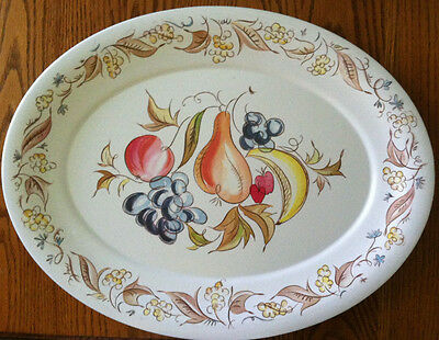 Kenro Serving Plate/platter With Fruit Design