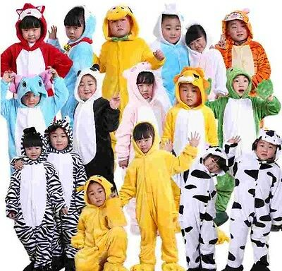 40 Styles Kids Pajamas Animal Cosplay Costume Flannel Homewear Hoodies Onesie