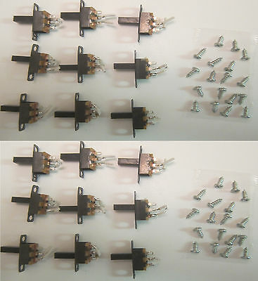 18 X Mini Size SPDT Slide Switch 0.3A On-Off PCB with Screws DIY USA ship!