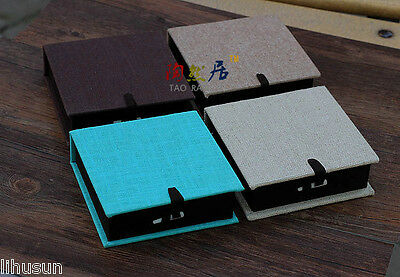 Wholesale4pcs Chinese Classic Handmade Silk Square Flax Cotton Cover Jewelry Box