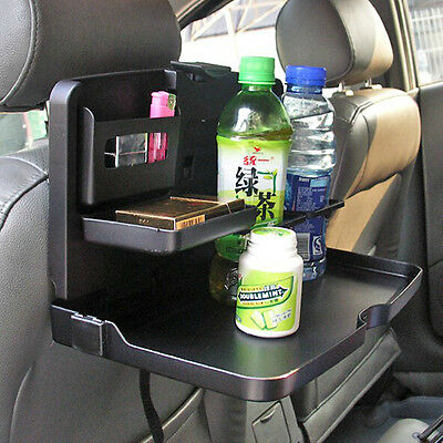 Auto Dining Table Car Back Seat Folding Tray Cup Holder Drink Desk Black AU New