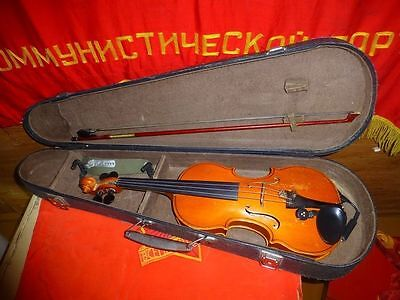 Vintage USSR violin with box mini microphone VIOLON made in USSR Moscow