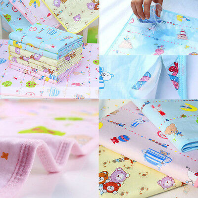 100% Cotton Cute Cartoon Baby Changing Mat Pad Waterproof Diaper Cloth Towel New