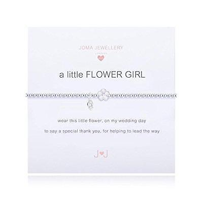 "Joma Jewellery Silver Plated Girls Bracelet ""a little Flower Girl"""