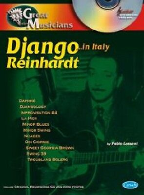 DJANGO REINHARDT ,,, IN ITALY con CD - Collana Great Muisician