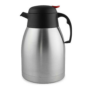 Stainless Steel Vacuum Coffee Pot 1.5 Litre - Thermal Jug for Hot Beverages