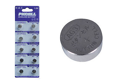 10x 1.5v AG3 392A SR41SW LR736 392 SR736 Alkaline Button Cell Coin Batteries