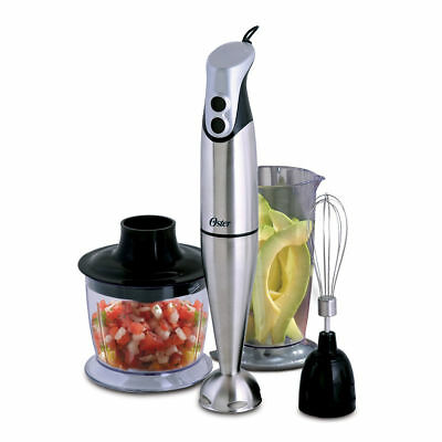 Oster Stainless Steel Hand Blender w/ Cup and Chopper FPSTHBSSA2-33A