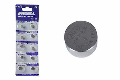10x 1.5v AG4 377A SR626SW SR66 L626 Alkaline Button Cell Coin Batteries Battery