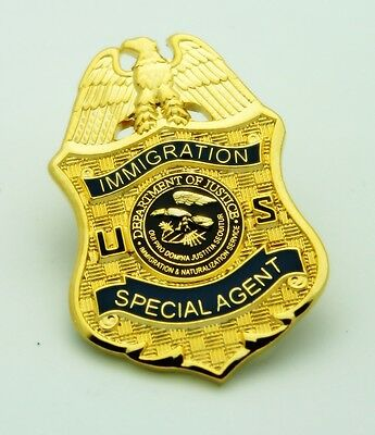 Legacy Immigration and Naturalization Service Special Agent Mini Badge Lapel Pin