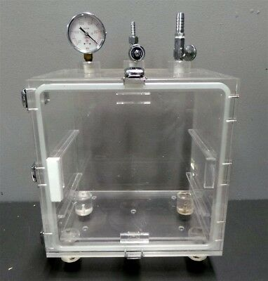 Fisher Scientific Acrylic Box Dry Dessicator Vacuum Cabinet 9 X 12 X 12  Cabinet