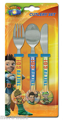 Spearmark Childrens Tree Fu Tom Knife Fork Spoon Cutlery Set Age 3 +