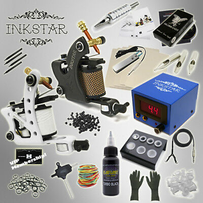 Complete Tattoo Kit Professional Inkstar 2 Machine JOURNEYMAN Set GUN Black Ink