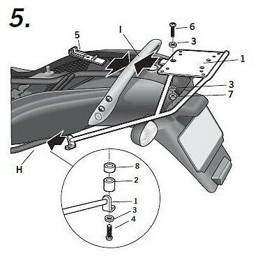 Bmw K1200 Rs / Gt-03/05-Support Top Case Shad-Wokg12St