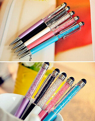 10PCS New Gift Crystal Ballpoint Pen With  Elements WITH Touch Screen Pen