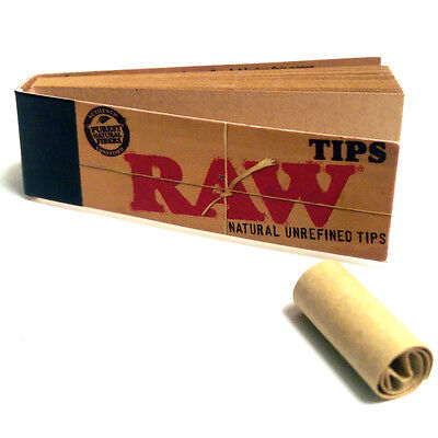 RAW Roach Filter Tips Chlorine Free Filter Roach Hemp Standard (x20 pack)