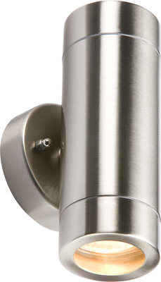 WALL2L - Fixed Stainless Steel Double Wall Light fitting outdoor & Indoor lights