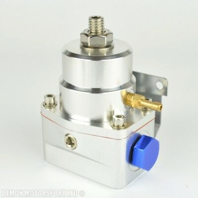 Fuel Pressure Regulator Adjustable 100 psi 1:1 Rising Rate 7 bar (Silver) EFI