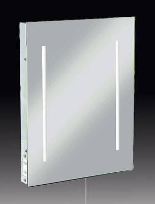 Knightbridge - LED Illuminated Bathroom Mirror with Dual Shaver Socket RCTM2LED