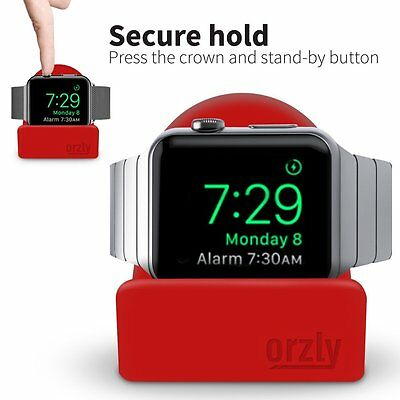 Orzly® Night-Stand for Apple Watch 38mm & 42mm Holder Stand Cradle - RED