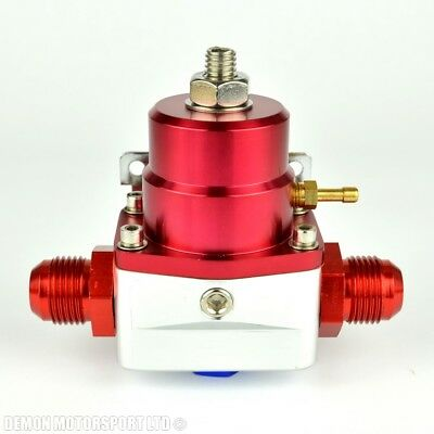 AN10 (AN -10) FPR Fuel Pressure Regulator Red With 10AN Fittings 100 Psi 1:1