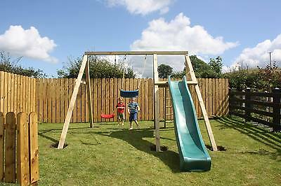Climbing Frame New Mini Play Wooden Swing Set,Slide Pressure Treated 4 inch post