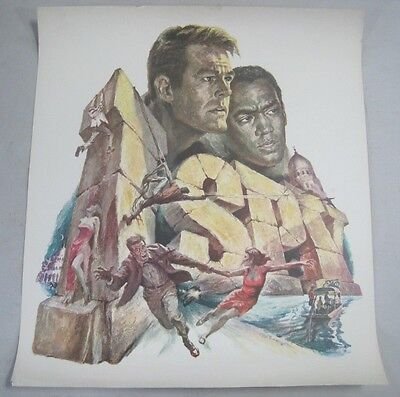 Vintage 1960s I Spy TV Guide / Station Advertisment Poster RARE Bill Cosby