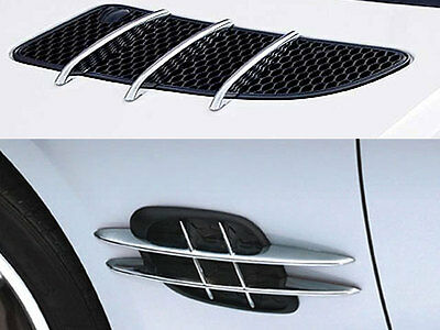 Mercedes R171 SLK Chrome Bonnet Hood fins & Wing Fender trims