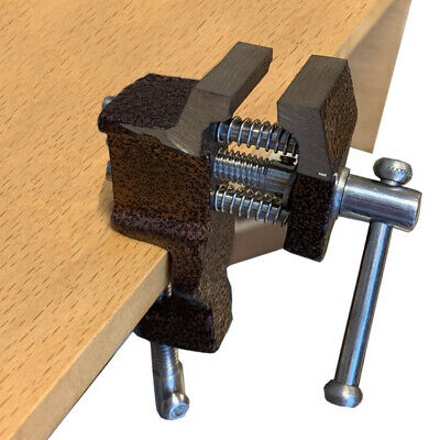 """Mini Vise Cast Iron Bench 1"""" W/Clamp Miniature Vise Jewelers Hobby"""