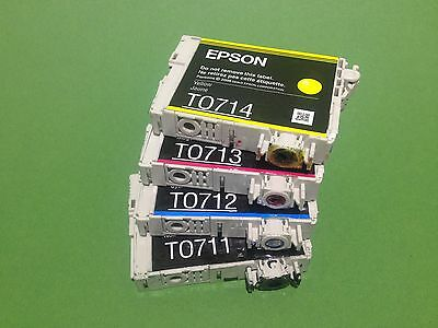 100x Epson T0711-T0714 leer,leere Druckerpatrone,empty Epson ink cartridge