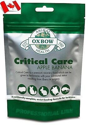 Oxbow Animal Health Critical Care Apple & Banana (141 gram) Canadian Shipping